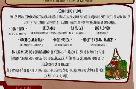 Recogida de alimentos para los que lo necesitan en Aravaca