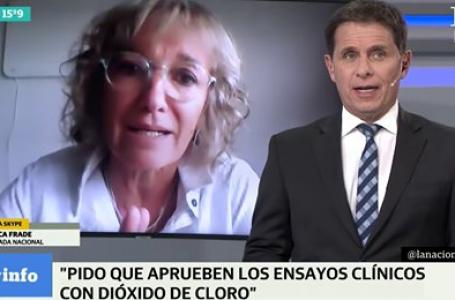 """Mónica Frade, diputada argentina: """"la doctora Elisa Carrión y yo hemos hecho una denuncia penal contra el presidente, el ministro de salud y el vicepresidente por poner en riesgo la salud de la población"""""""