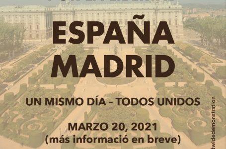 El día 20M, manifestación mundial de la libertad
