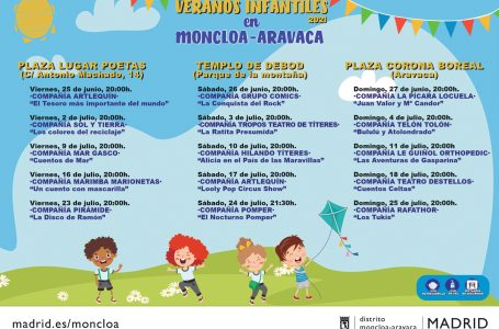 Veranos infantiles en Moncloa-Aravaca 2021