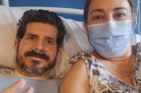 """Juan Francisco Martí, """"el del ozono"""", salió esta tarde de la UCI del Hospital Universitario de la Plana"""